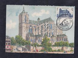 Carte Maximum  Journee Du Timbre 1947 Le Mans Cathedrale - Unclassified