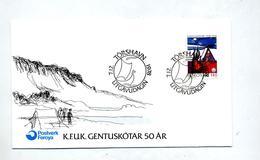 Lettre Cachet Törshavn Sur Gentuskotar - Islas Faeroes