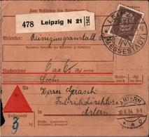 ! 1934 Nachnahme Paketkarte Deutsches Reich, Leipzig N21, Messe, Nach Artern - Covers & Documents