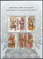 INDIA 2018 INDIA, MS  INDIAN FASHION Through Ages. Set 4v In Miniature Sheet, MNH(**) - Ongebruikt