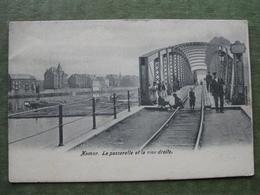 NAMUR - LA PASSERELLE ET LA RIVE DROITE - Namur