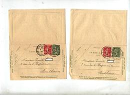 Carte Lettre 15 C + Timbre Semeuse Cachet Schiltigheim - Entiers Postaux