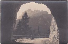 Carte-photo. CORTINA D'AMPEZZO. Croda Da Lago Vom Crepa-Tunnel - Belluno