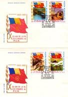 Romania 1985 FDC, Communist Party Congrece - Cartas
