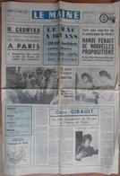 24 H Du Mans 1972. Frank Valverde Au Village Des 24H.La Chapelle-Saint-Aubin.Jean Ferrat Au Bois De L'Epau. - Desde 1950