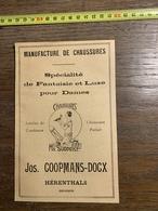 1927 PUBLICITE CHAUSSURES MA SURPRISE JOSEPH COOPMANS DOCX HERENTHALS EMILE VITAL DANIEL LA BOUVERIE - Collections