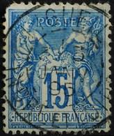 -Sage N°101 Type Ll. O .(CAD ) LIGUEIL ( 36 ) 3 JANV 1895. - 1876-1898 Sage (Type II)