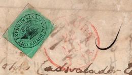 (R43) SCOTT 20L4 (L54) BOYD'S CITY EXPRESS - MAY 22 , 1847 - TIED BY RED HAND STAMP - C.V. - PHILADELPHIA. - 1845-47 Emissioni Provinciali