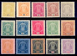 ! ! Mozambique Company - 1895 Elephants Coat Of Arms (Complete Set)  - Af. 11 To 25 - NGAI - Mozambique
