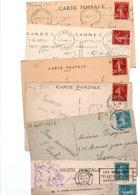TIMBRE TYPE SEMEUSE CAMEE....30c....VOIR DETAIL.......LOT DE 48 SUR CPA.....VOIR SCAN......LOT 25 - 1906-38 Säerin, Untergrund Glatt