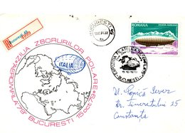 Romania 1979, Philatelic Exhibition, Registered Letter, Polar Philately - Cartas