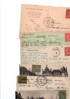 TIMBRE TYPE SEMEUSE LIGNEE....VOIR DETAIL.......LOT DE 48 SUR CPA.....VOIR SCAN......LOT 26 - 1903-60 Säerin, Untergrund Schraffiert
