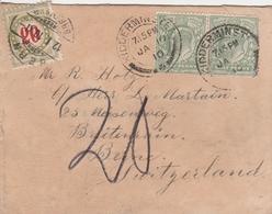 Grande Bretagne Lettre Taxée En Suisse 1910 - Marcofilie
