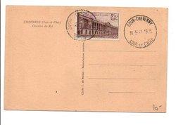 OBLITERATION DE COURS CHEVERNY LOIR ET CHER 1947 - Commemorative Postmarks