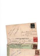 TIMBRE TYPE EXPO 1931...MAZELIN.......LOT DE 48 SUR CPA.....VOIR SCAN......LOT 28 - 1945-47 Ceres (Mazelin)