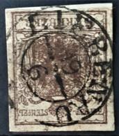 AUSTRIA 1850/54 - LIEBENAU Cancel - ANK 4 - 6kr - 1850-1918 Empire