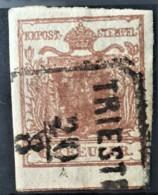 AUSTRIA 1850/54 - TRIEST Cancel - ANK 4 - 6kr - 1850-1918 Imperium