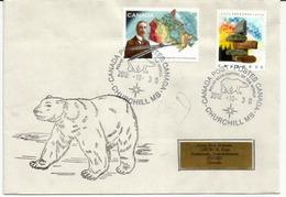 CANADA. Ours Polaire, Enveloppe De La Capitale Des Ours Polaires, A Churchill, Baie D'Hudson. Arctique Canadien - Ours