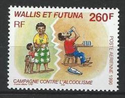 """Wallis Aerien YT 196 (PA) """" Contre L'alcoolisme """" 1996 Neuf** - Unused Stamps"""