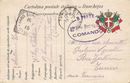 CPA Militaire Italienne De 1915 à Destination De La Tunisie - Guerre 1914-18