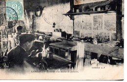 Langeac: Intérieur D'un Atlier De Perleurs - Langeac