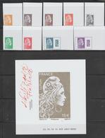 FRANCE / 2018 / Y&T N° 5248A/5254A + 5257A/5258A + F5258B ** : Marianne D'YZ (Les 10 TP ND Du Coffret Du Salon) - Neufs