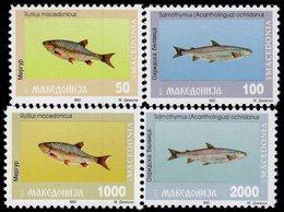 Macedonia - 1993 - Freshwater Fish - Mint Stamp Set - Macedonia