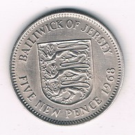 5 NEW PENCE 1968 JERSEY /9506/ - Jersey
