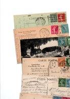 TIMBRE SEMEUSE CAMEE...+ DIVERS..VOIR DETAIL...LOT DE 48 SUR CPA.....VOIR SCAN......LOT 38 - 1906-38 Säerin, Untergrund Glatt