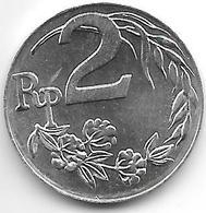 *indonesia 2 Rupiah 1970 Km 21    Bu - Indonesia