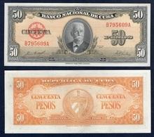 !!! BILLET 50 PESOS 1958 (UNC) !!! - Cuba