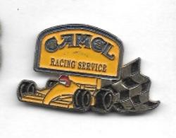 Pin's  Sport  Automobile  F 1  Avec  CAMEL  RACING  SERVICE - F1