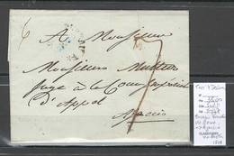 France - Lettre Bureau Francais De  Rome Pour Ajaccio Via Bastia Corse - 1809 - Marcofilia (sobres)