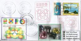 ANGOLA:(Empresa Nacional De Diamantes) Diamants Célèbres D'Angola. EXPO MILANO 2015, Lettre Du Pavillon ANGOLA - Minéraux