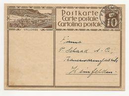 """Schweiz Suisse 1929: Bild-PK / CPI """"VALLORBE"""" (rails Et Train) Mit O FRUTIGEN 3.X.29 Nach Weinfelden (Thurgau) - Interi Postali"""