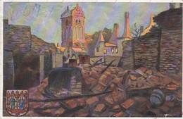 AK Gerdauen - Die Zerstörte Kirchstraße Mit Kirche - A. Kraska - Kriegshilfsverein Berlin - 1918 (45881) - Ostpreussen