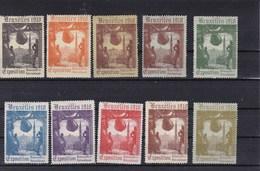 1910. Exposition De Bruxelles. Vignette/sluitzegel - Erinnofilia