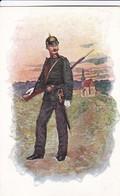AK Gendarm Der K.k. Gendarmerie Mit Helm, Säbel Und Gewehr - Verlag Brüder Kohn Wien - Ca. 1900 (45883) - Uniformen