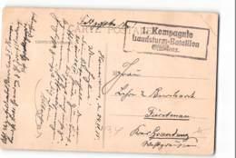 12384 01  HOMECOURT -FELDPOST - 1 KOMPAGNIE LANDSTURM-BATTALION GRUDENZ - 1850-1918 Impero