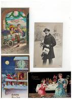 Gelukkig Nieuwjaar Bonne Année 50 Oude Postkaarten De Meeste Geschreven Met Zegel Begin 1900 - 5 - 99 Cartoline