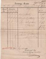 Baden / 1850 / Postscvhein (Zeitungs-Conto) L1 NEUSTADT R.2. (3374) - Baden