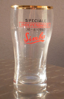 VERRE BIERE Congo Brasserie SIMBA Brouwerij Spéciale Indépendance BIERGLAS 30 - 6 - 1960 Kongo Katanga Onafhankelijkheid - Glazen