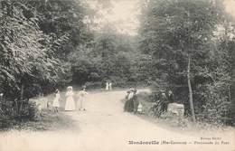 31 Mondonville Promenade Du Pont Cpa Carte Animée - France
