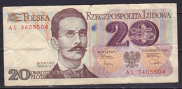 POLEN 1982 20 Zt Note See Scans From Both Sides - Pologne