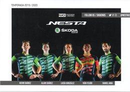 Cyclisme, Groupe Nesta 2019-2020, Format 21 X 15 Cm - Wielrennen