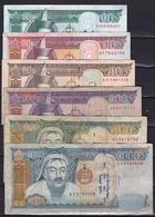 MONGOLIE 1997 / 2011 : 10-20-50-100-500-1000 Tugrik Notes  See Scans - Mongolië