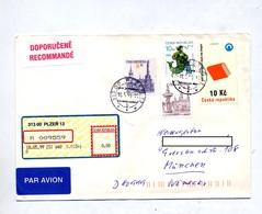 Lettre Recommandée Plzen Sur Ville Livre Signe Zodiaque - Tschechische Republik