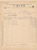 FA 1652- FACTURE    HUILES & FOURNITURES INDUSTRIELLES L'OLEO   LEVALLOIS PERRET   1923 - Cars
