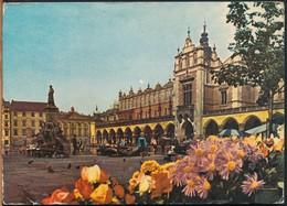 °°° 15202 - POLAND POLONIA - KRAKOW - RYNEK GLOWNY - 1971 With Stamps °°° - Poland