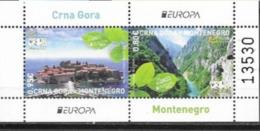 MONTENEGRO, 2012, MNH, EUROPA, LANDSCAPES, MOUNTAINS, SVETI STEFAN, SHEETLET - 2012
